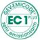 Zertifiziert durch GEV-EMICODE ®,  <br>EC 1<sup>PLUS</sup> – sehr emissionsarm.